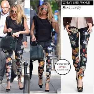 MOTHER 'FLORAL PRINT JEANS '